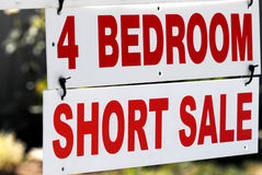 Short sale sign Royalty Free Stock Photos
