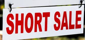 Short sale sign Royalty Free Stock Photography
