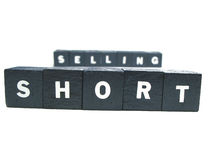 Short selling. The words short selling spelled out Royalty Free Stock Photos