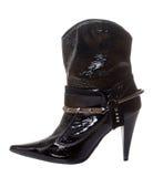 Short shine boot for women Stock Photo