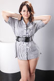 Short shirt dress Royalty Free Stock Image