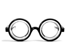 Short-sighted glasses. Isolated on a white background Royalty Free Stock Images