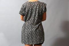 Short sleeve dress for women Royalty Free Stock Image