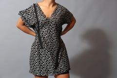 Short sleeve dress for women Stock Photos