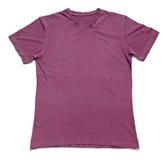 Short sleeved purple t-shirt on white Stock Images