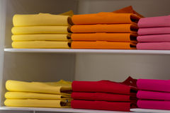 Short sleeves polo shirt on display stand Royalty Free Stock Image