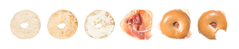 Short story of bagel Royalty Free Stock Photography
