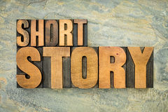 Short story in wood type Stock Photography