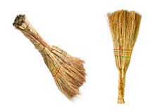 Short straw brooms Stock Photography