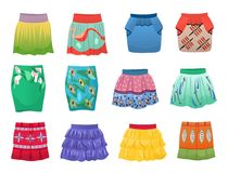 Short summer skirts Royalty Free Stock Photos