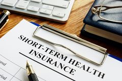 Short-term health insurance or Short Term Medical STM royalty free stock images