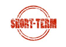 Short term red rubber stamp Royalty Free Stock Images