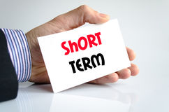 Short term text concept Stock Photos