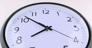 A short time lapse of a clock face stock video footage