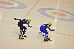 Short track 2012 in Turin. Italy Royalty Free Stock Image