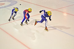 Short track 2012 in Turin. Italy Royalty Free Stock Photo