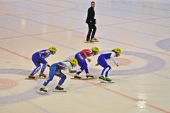 Short track 2012 in Turin. Italy Royalty Free Stock Photos