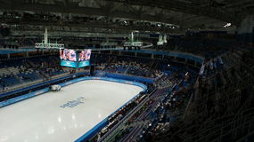 Short-track competition on Winter Olympic Games in Sochi Royalty Free Stock Images