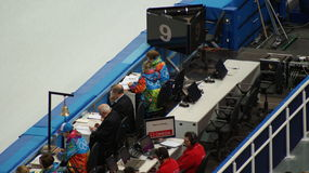 Short-track competition on Winter Olympic Games in Sochi Royalty Free Stock Image