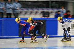 Short track - european championship Royalty Free Stock Photos
