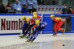 Short track race Royalty Free Stock Photos
