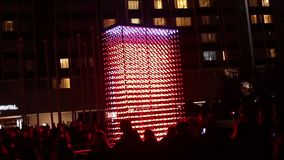 A short video of a videomapping on a hanging installation called Dron~list by Jakub Nepras at Signal light festival 2016.No audio stock video