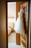 Short wedding dress Stock Photography