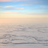 Short winter day in tundra Royalty Free Stock Photos