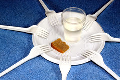 Shortage. Of food and water Stock Images