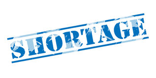 Shortage blue stamp Stock Photography