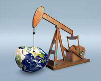 Shortage of oil resources - Elements of this image furnished by Stock Image