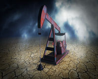 Shortage of oil resources Royalty Free Stock Image