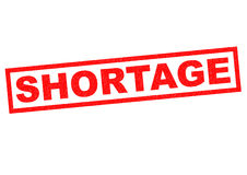 SHORTAGE Royalty Free Stock Images