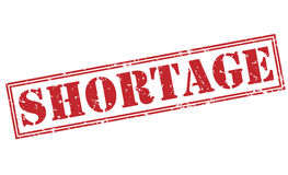 Shortage red stamp Stock Images