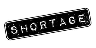 Shortage rubber stamp Royalty Free Stock Photos