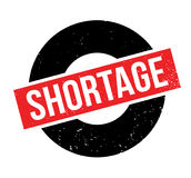 Shortage rubber stamp Stock Photos