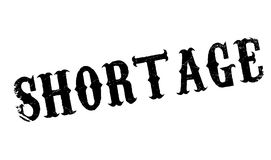 Shortage rubber stamp Royalty Free Stock Photography