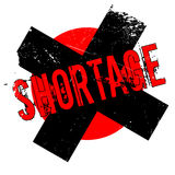 Shortage rubber stamp Stock Photo