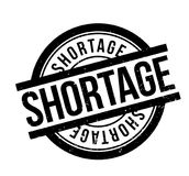 Shortage rubber stamp Royalty Free Stock Photo
