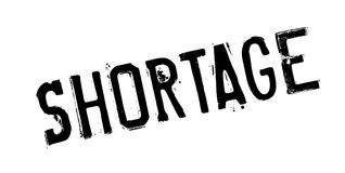 Shortage rubber stamp Stock Image
