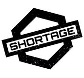 Shortage rubber stamp Stock Images