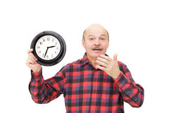 Shortage of time on the job. Stock Photos