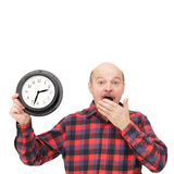 Shortage of time on the job. Stock Images