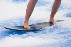 Shortboard on White Water Stock Photos