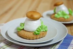 Shortbread гриб-форменный Стоковые Фото