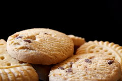 Shortbread biscuits. Photograph of a variety of shortbread biscuits Stock Images