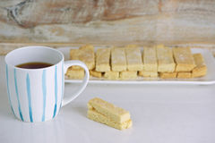 Shortbread biscuits and tea Royalty Free Stock Images