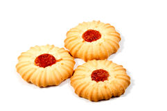 Shortbread biscuits on a white Royalty Free Stock Photography