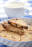 Shortbread with chocolate chips Stock Photo
