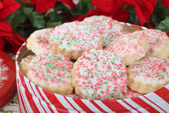 Shortbread Christmas Cookies Royalty Free Stock Photos